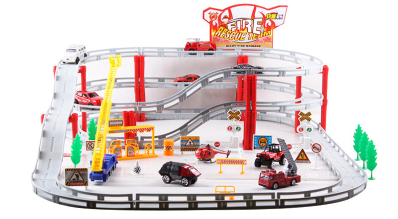 Small Toys For Boys : Pcs big fire truck series alloy slot car planes small