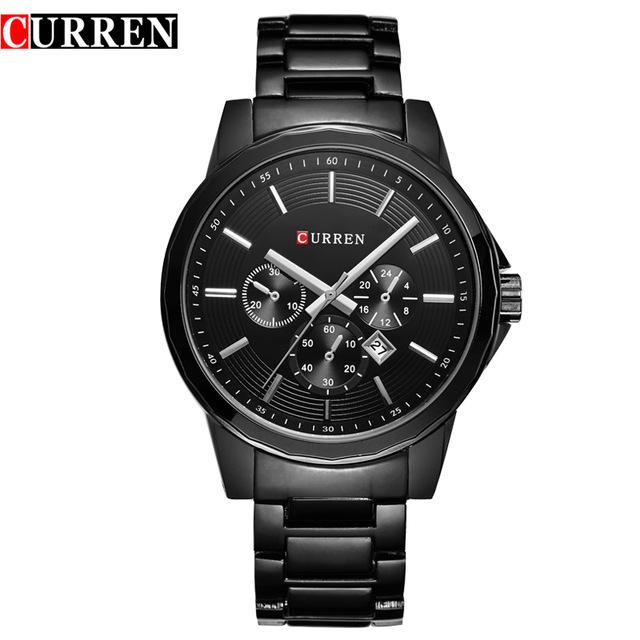 HOT2016 CURREN Watches Men quartz Top Brand Luxury Military male Watches Men Sports army Watch Waterproof Relogio Masculino8129(China (Mainland))