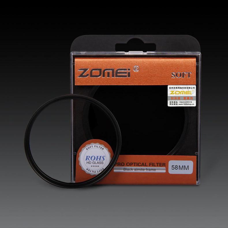 Premium Original ZOMEI 58mm Soft Filter Special Effect Diffuser Lens Filter Soft Focus Dreamy Hazy Portrait for Nikon Canon Sony(China (Mainland))