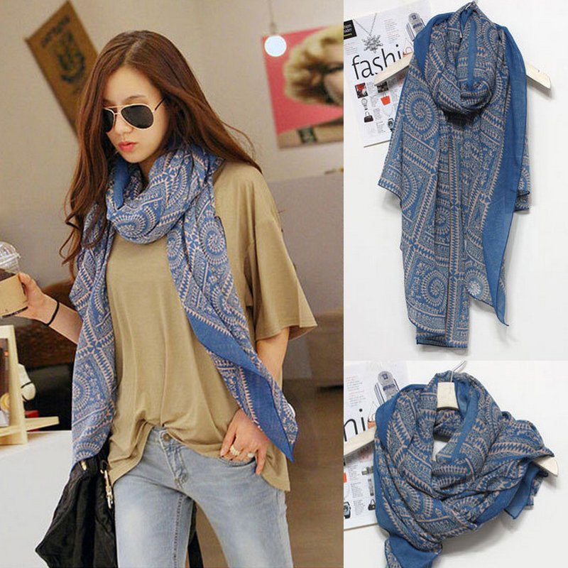 2016 High Quality Womens Spring Fashion Scarves Women Scarfs Thin Long Georgette Silk Floss Shawl Stripe Print Shawls Scarf Wrap(China (Mainland))