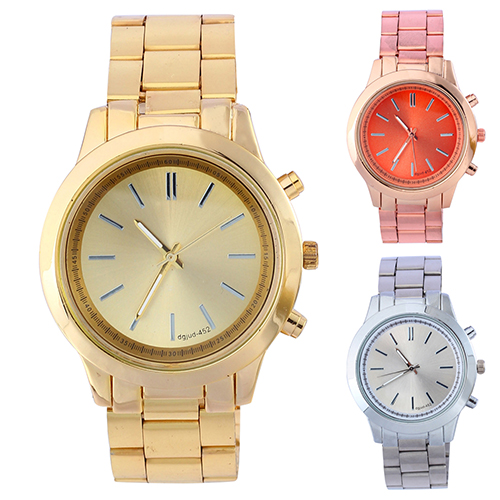 Гаджет  Business Ladies Golden Alloy Band Round Dial Case Quartz Analog Watches High Quality None Часы