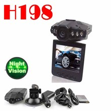 BY DHL OR EMS 100 pieces no profit HD 720P H198 car DVR with 2.5 TFT LCD SCREEN 6 LEDS for IR and night visio video format(China (Mainland))