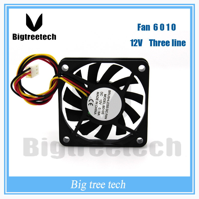 For 3d printer part 3 PIN 60x60x10mm 6010 12V cooling dc fan 6010 DC Brushless Cooling