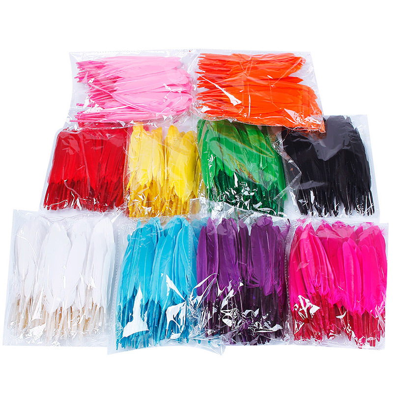 Not Colorful But 10 Colors for Choosing Hot Pretty 100pcs/Pack Beautiful Home Decor Goose Feather 4-6 Inches 10-15 cm #65764