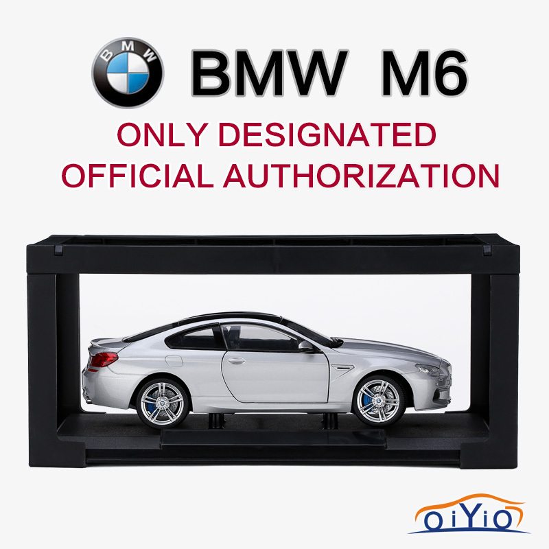 2015 Hot 1:24 Scale BMW M6 Authorized Car Model Alloy Metal Diecast Car Models Collection for Car Lovers with Display Framework(China (Mainland))