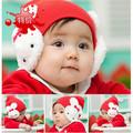Special offer hot winter hats baby rabbit ear cap children double double rabbit cartoon rabbit bow