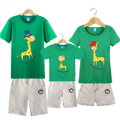 2015 New Short-Sleeved T-Shirt Dress Paternity Suit Summer Shorts Matching  Father Mother Boy Clothes<br><br>Aliexpress