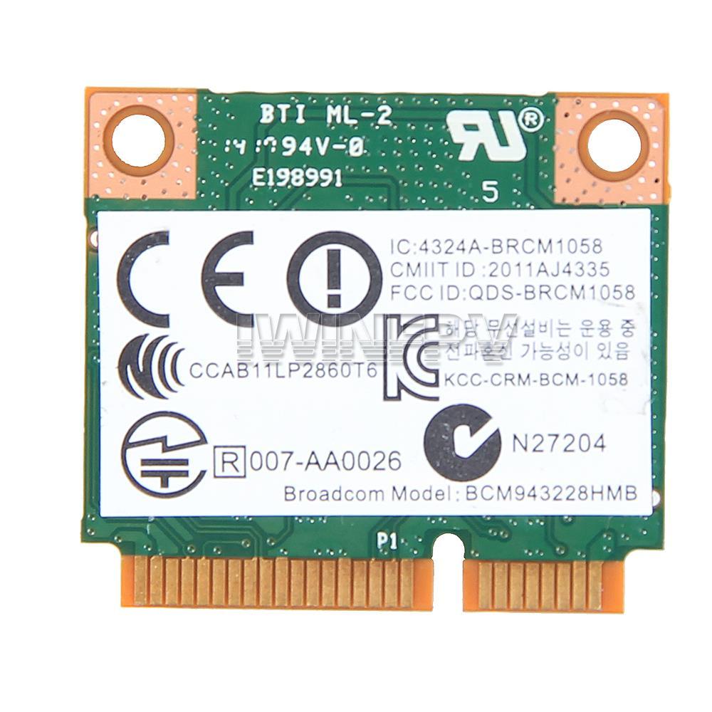 Гаджет  Broadcom BCM943228HMB 802.11a/b/g/n 300M 2.4Ghz 5Ghz Wireless WIFI Wlan card Dual Band half Mini PCI-e bluetooth BT 4.0 Adapter None Компьютер & сеть