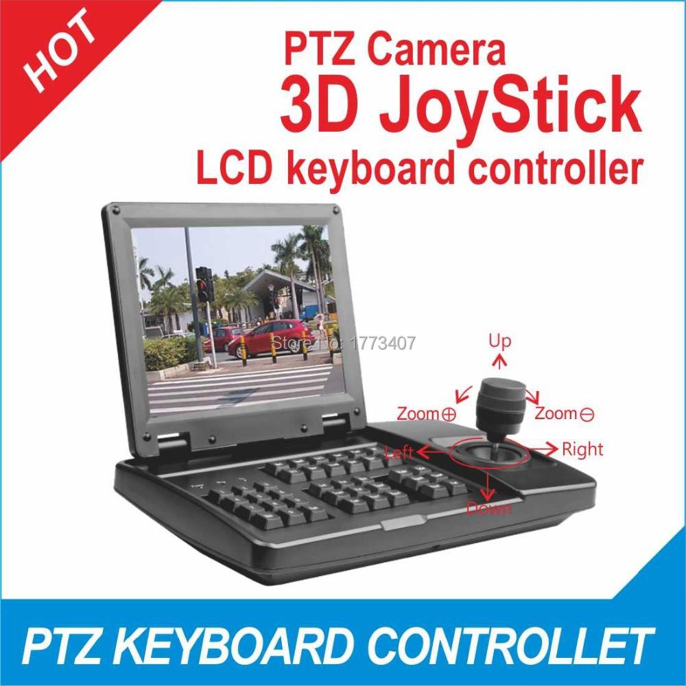 "8"" TFT-LCD control Dahua &hikvision dvr CONTROL Varifocal PTZ &Analog ptz PELCO P/D high speed dome keyboard controller(China (Mainland))"