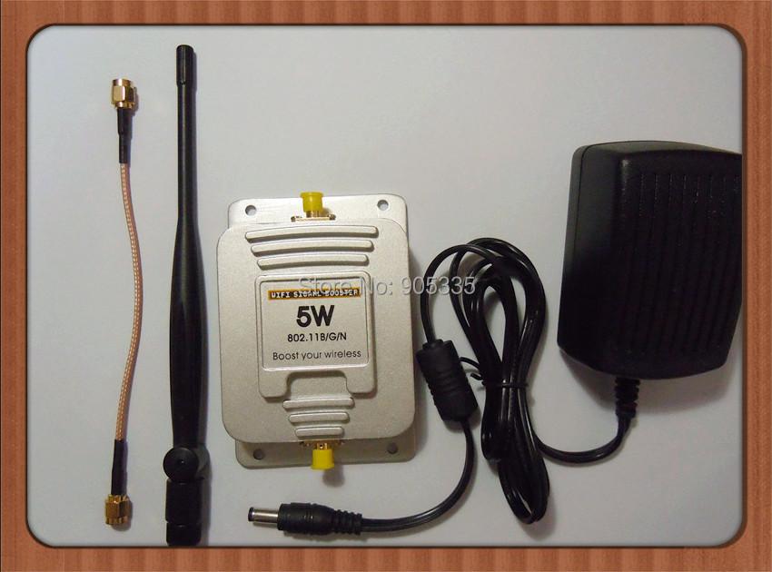 5W Wifi Signal Booster 2.4Ghz 802.11b/g/n Wireless Broadband Lan Amplifier 150mbps - Anstore 1688 store