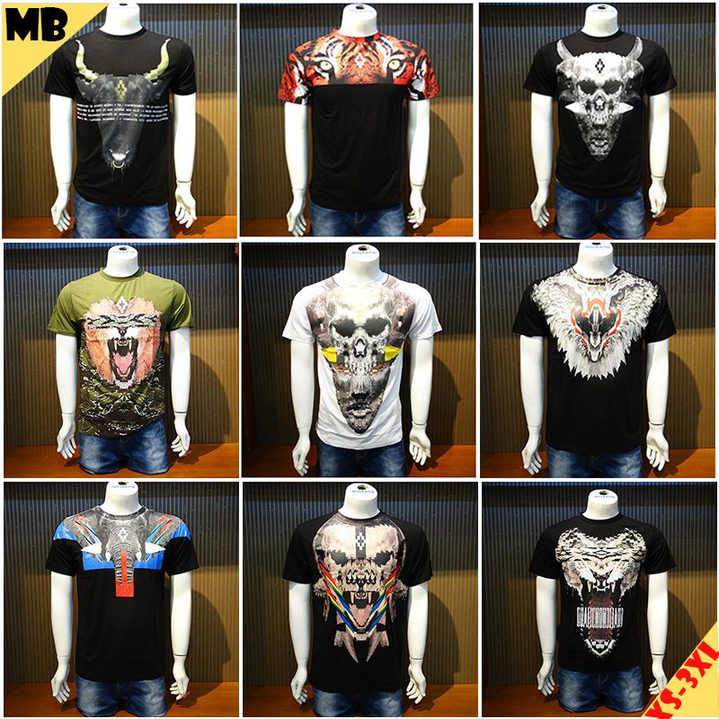 2016 NEW MARCELO BURLON CONTY OF MILAN Men's T-Shirts Shirts 3D Tee Top Regular XS-XXL(China (Mainland))