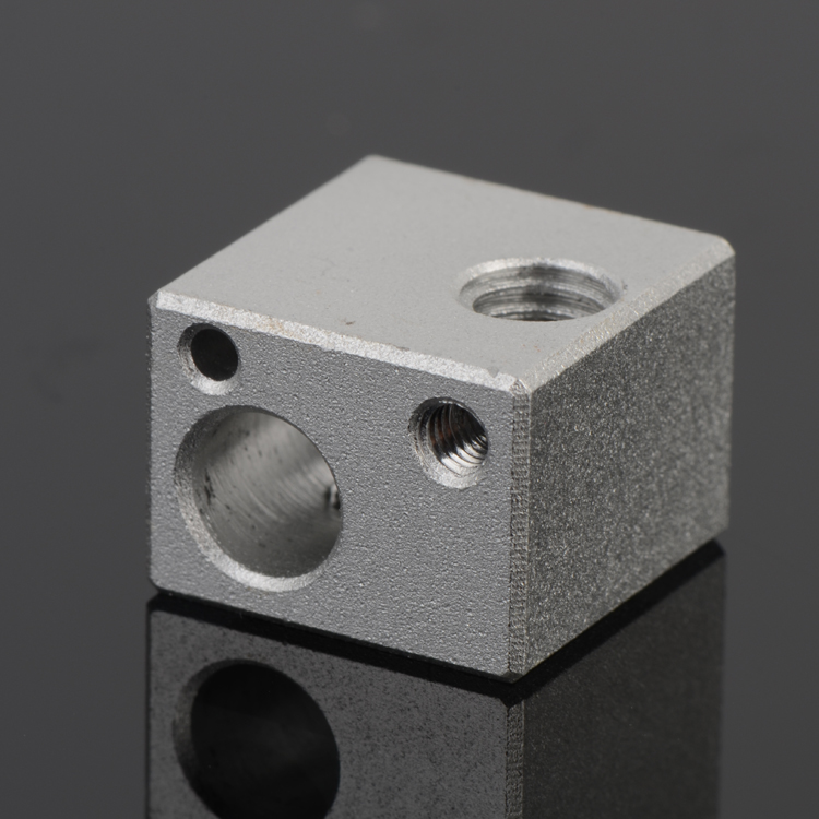 Reprap Extruder 3d Printer Accessories E3d Metal Hot End Heating Piece Of Aluminum Alloy Sandblasting Processing