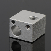 Reprap Extruder 3d Printer Accessories E3d Metal Hot End Heating Piece Of Aluminum Alloy Sandblasting Processing 16× 12