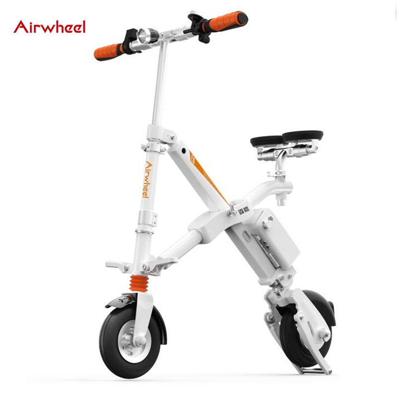 original Airwheel E6 electric bicycle folding bike with led light usb port smart ebike sport cycling adult e bike steering-wheel(China (Mainland))