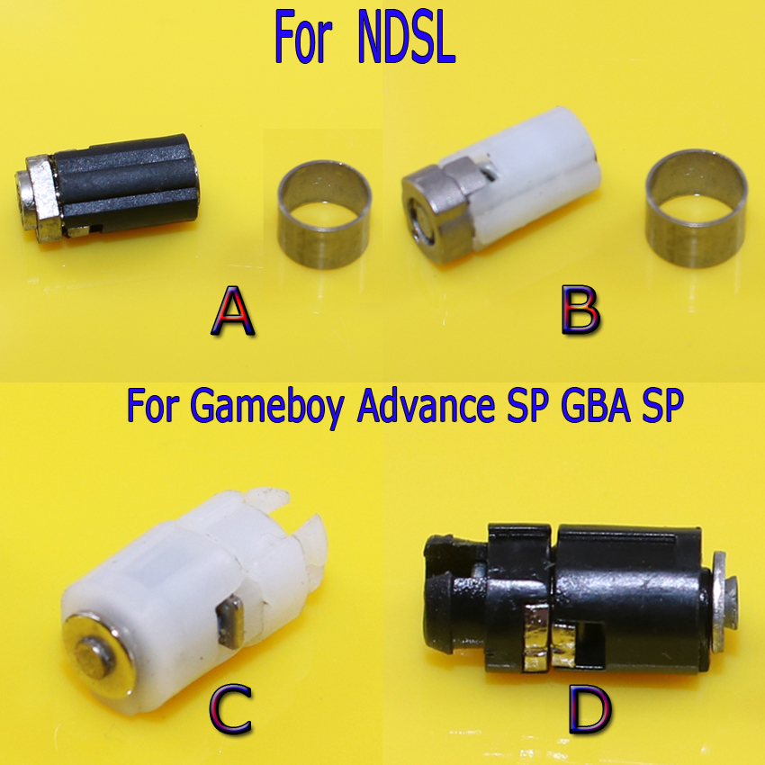 Hinge Axle Shell Repair Parts for Nintendo DS Lite NDSL Rotating Shaft Spindle Hinge Axis Replacement for Gameboy Advance SP GBA(China (Mainland))
