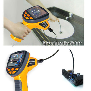 """Portable 3.5"""" Industrial Video Inspection Waterproof Camera Endoscope Snake Borescope 180 Rotation 10mm Diameter + 1M Cable"""