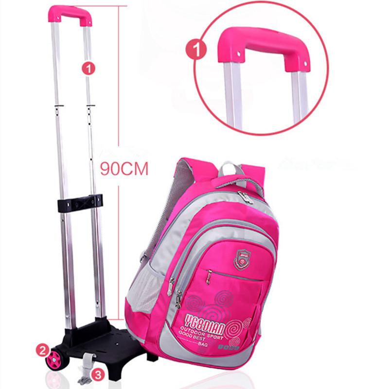 abnehmbare kinder trolley schultasche rucksack mit r dern kinder trolley rucksack roll. Black Bedroom Furniture Sets. Home Design Ideas