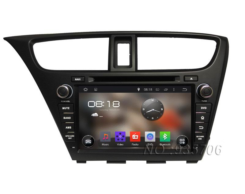 Здесь можно купить  1024*600 2 din Android 4.4 Car DVD player For HONDA Civic 14 with WIFI  GPS USB Capacitive screen Car radio car Audio car stereo  Автомобили и Мотоциклы
