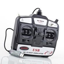 Hot New  1Pcs 6CH channel USB 3D USB Flight Simulator + FMS CD Simulator Software(China (Mainland))