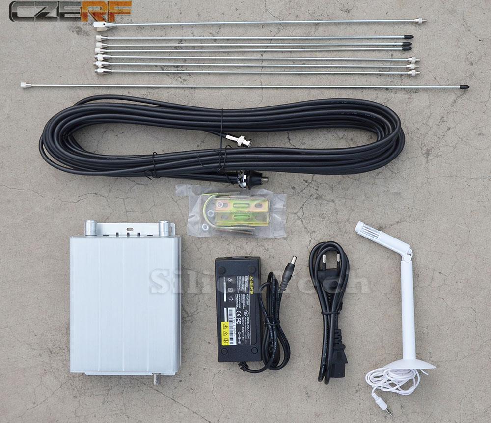 CZE-15a 15W stereo PLL FM transmitter broadcast radio station + GP1 antenna + Power supply + MIC Kit(Hong Kong)
