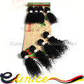 Cheap 6A Brazilian Bouncy Jerry Curly Hair Elastic Spiral Curly 8 Bundles Kinky Curly Hair Weaves