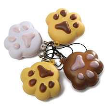 Best Promotion Kawaii Claw Puppy Dog for Cat Footprint Squishy Bread Keychain Bag Phone Charm Strap(China (Mainland))