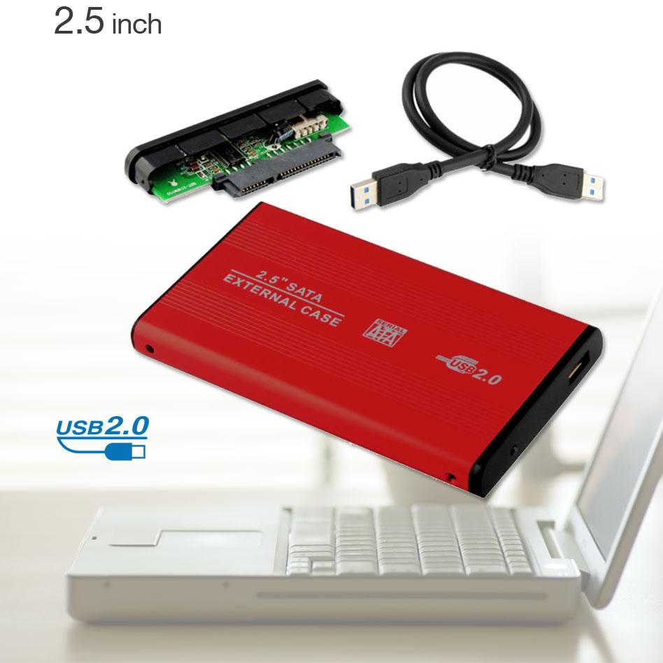 USB 2.0 HDD Hard Drive Disk Red Enclosure External 2.5 Inch Sata HDD Case Box EL5018(China (Mainland))