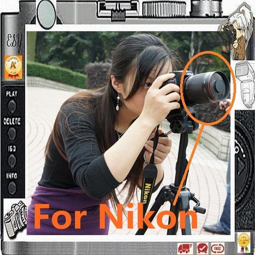Manual 500mm F8 Reflex Mirror Telephoto Lens for Nikon DSLR Camera D5500 D5300 D5200 D3200 D3100 D3000 D7100 D7000 D90(China (Mainland))
