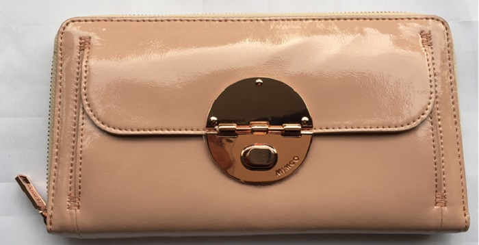 MIMCO blush pink WALLET Turnlock Travel Wallet rose gold turnlock Genuine Leather women wallet Zip Top FREE SHIPPING(China (Mainland))