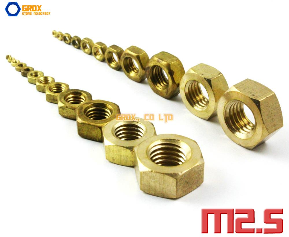 400 Pieces M2.5 Brass Metric Thread Hexagon Nut<br><br>Aliexpress