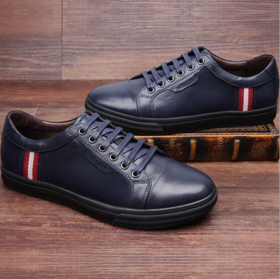 New arrival fashion men shoes online Genuine leather top grade outdoor casual business young men breathable shoes,X0319(China (Mainland))