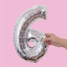 """1 шт. 16 """"/32"""" Цифры фольга золото и серебро номер воздушный шар надувные шары для свадьбы День рождения украшения для детских игрушек(China)"""