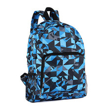 Bag accessories casual folding convenient delicate double zipper multicolor scrawl waterproof nylon backpack schoolbag unisex(China (Mainland))