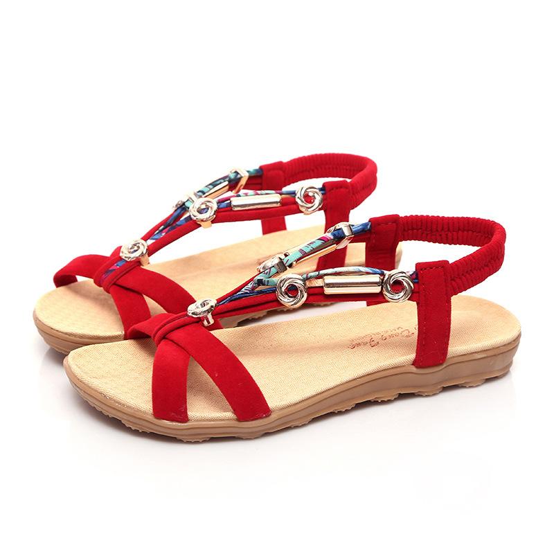 bfcddf6d6b9  font  b Women  b   font  Sandals ladies sandals slippers  font  b womens  b   font    font  b footwear  b   font  Ankle-Strap china native shoes red white ...