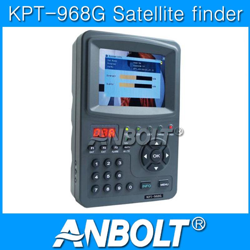 New Satlink Digital Satellite Finder Signal Meter 3.5inch Kpt-968g Tft Dvb-s2 Handheld Abs-s Cbs-s Mpefg-4 Hd Sat Cheap(China (Mainland))