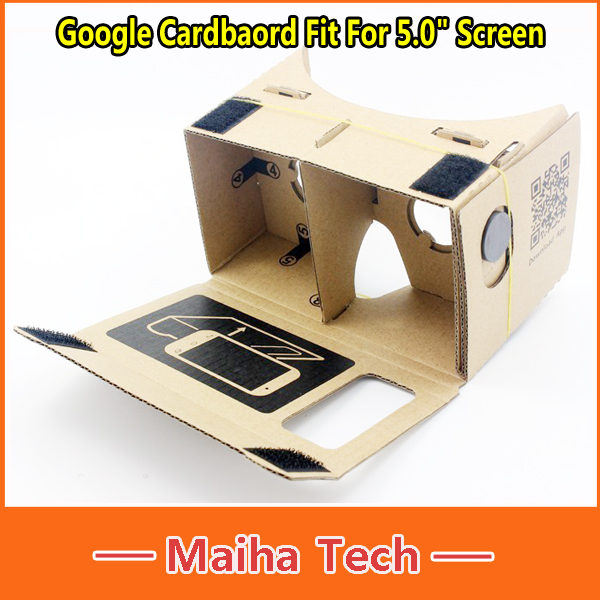 "For 5.0"" Screen DIY Google Cardboard Virtual Reality VR Mobile Phone 3D Viewing Glasses Google VR 3D Glasses(China (Mainland))"