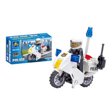 2016 High Quality Police Motorcycle Building Blocks Compatible With LEGO Policeman Motorbike Bricks Birthday Gift Brinquedos Toy