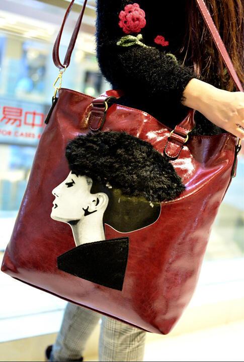 Women bag 2015 New Arrival Female Shoulder Messenger Bag Female Leather Handbags Larger Tote Bag Best Gift For Mom (China (Mainland))
