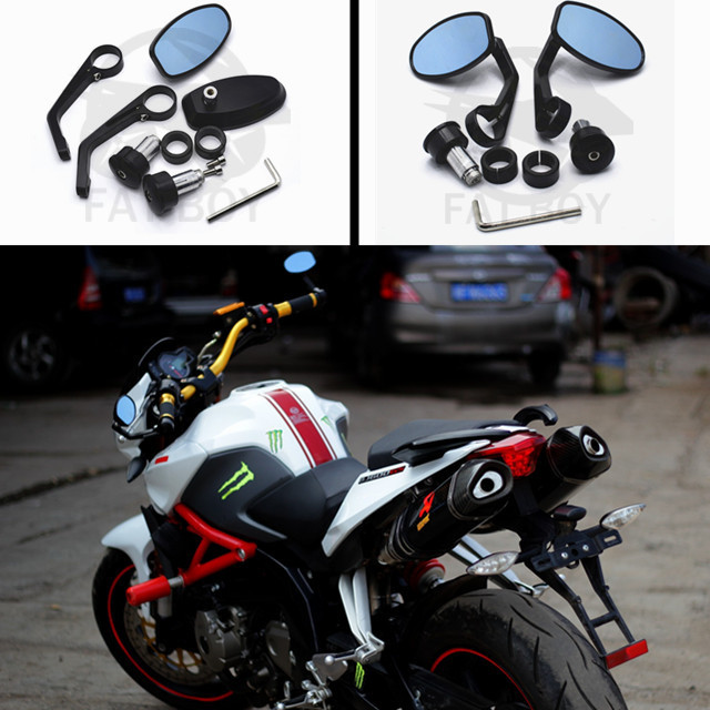 motorcycle handlebar mirrors with paragraph Z750 Z800 Z1000 GSXR 600 750 1000 YZF R1 R6 TMAX 530 CBR 600 750 1000 RR(China (Mainland))