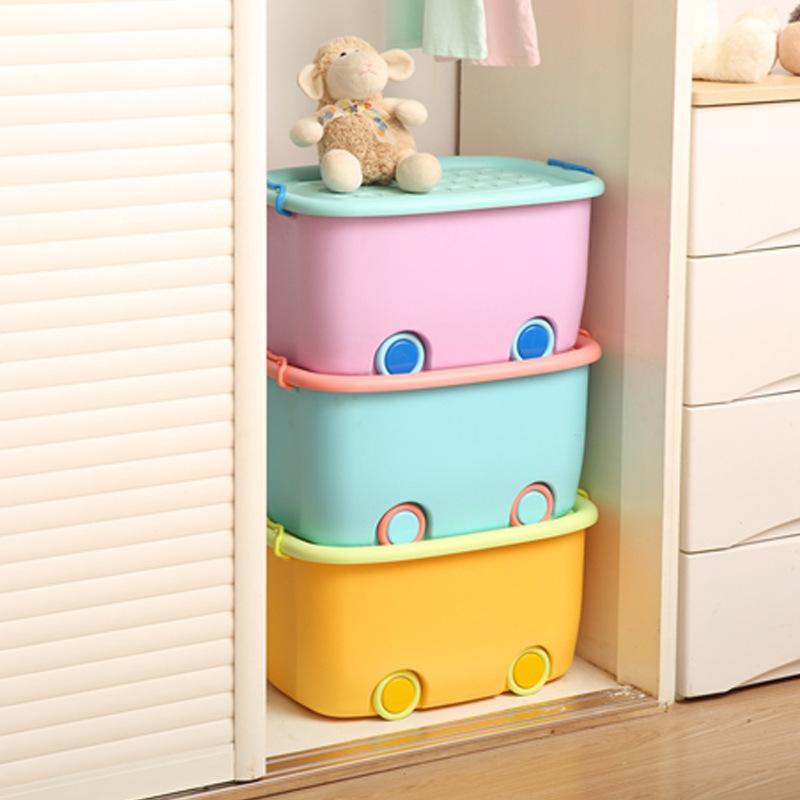 Fashion Children's Toy Storage Box Large Clothes Storage Box Home Decorative Plastic Storage Bins(China (Mainland))