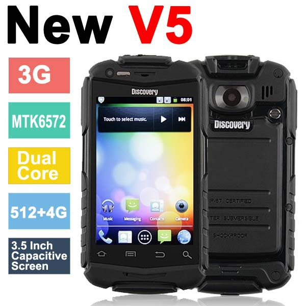 "Discovery V5+ Shockproof Android 4.2.2 Phone 3.5"" Capacitive Screen"