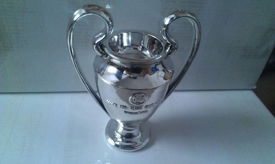 FREE airmail SHIPPING UEFA Champions League Soccer Football Replica Trophy Cup 15CM 0.3KG UCL(China (Mainland))