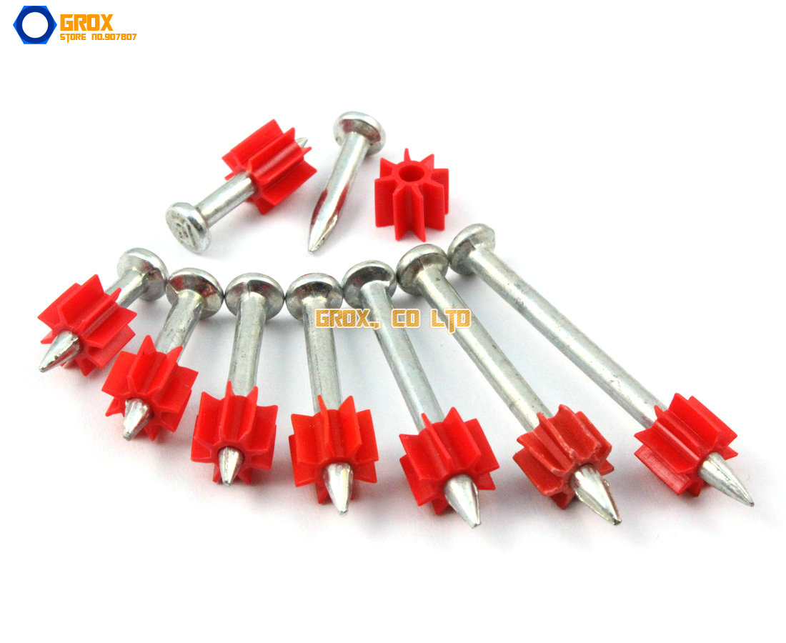 80 Pieces 3.5 x 47mm Steel Concrete Drive Pin Nail(China (Mainland))