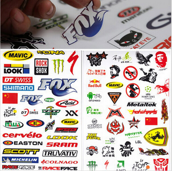hete outdoor fiets mountainbike fiets sticker sticker sticker bs1003 skateboard(China (Mainland))