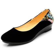 New 2016 Women Wedge Heels Shoes Platform Work Single Shoes Casual Ladies Old beijing Pumps Women Office Shoes Zapato feminino