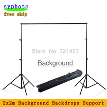 Free Tax to Russia 2*2M 6.5FT*6.5FT Professinal photography background Backdrops Support System Stands studio with carry bag