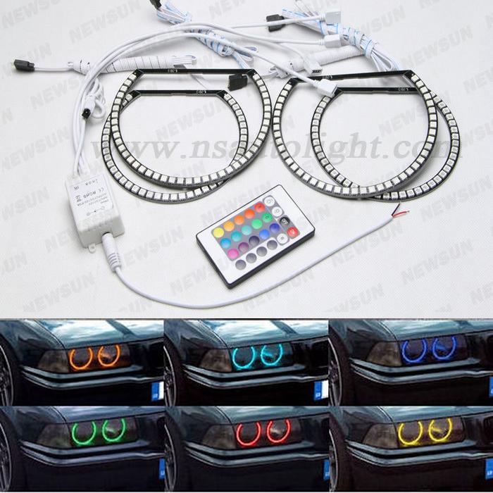xenon rgb led angel eyes kit for bmw e36 e46 e38 e39 e36. Black Bedroom Furniture Sets. Home Design Ideas