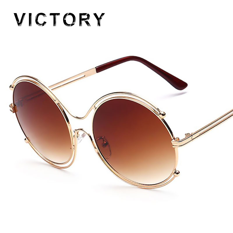 Designer Eyeglass Frames Bling : 2016 New Oversized Round Sunglasses Medieval Luxury Women ...