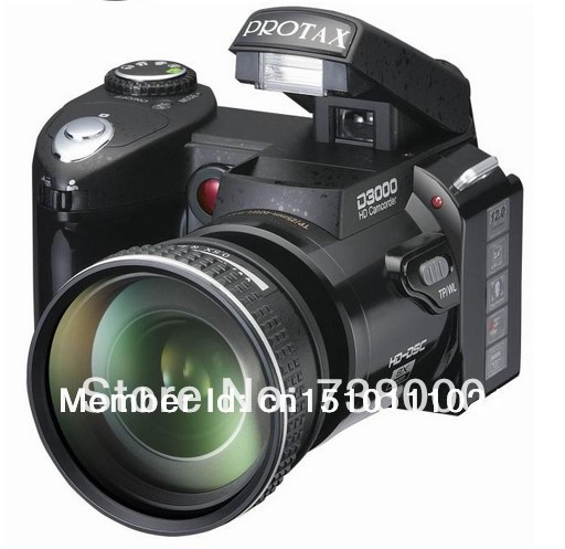"""Digital Camera DSLR D3000 TX-D3000 upgrade version 16MP 3.0"""" LCD,With 16X Optical Zoom Telephoto Lens&Wide Angel Lens ,3.0""""LCD(China (Mainland))"""