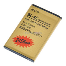 2 шт./лот 2450 мАч золотой BL-4C аккумулятор для Nok BL 4C с2-05 2220 6100 6300 аккумулятор Batterij Bateria телефон аккумулятор
